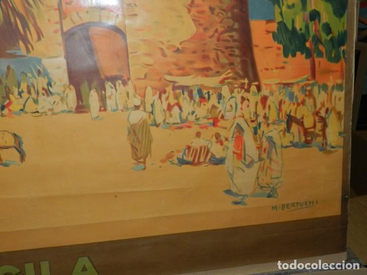Carteles de Turismo: CARTEL ORIGINAL COMITE OFICIAL DE TURISMO ARCILA PROTECTORADO REPUBLICA ESPAÑOLA EN MARRUECOS - Foto 5 - 139547530