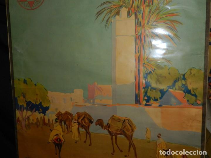 Carteles de Turismo: CARTEL ORIGINAL COMITE OFICIAL DE TURISMO ALCAZAR PROTECTORADO REPUBLICA ESPAÑOLA EN MARRUECOS - Foto 3 - 139547662