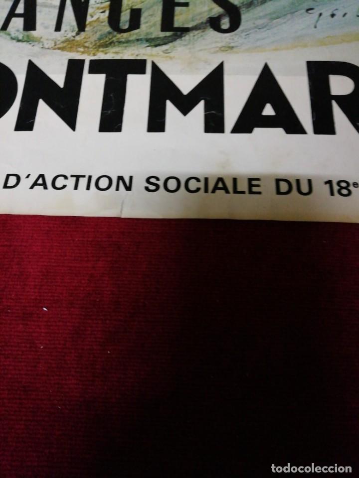 Carteles de Turismo: Antiguo cartel Vendances à Montmartre 1976 - Foto 4 - 139934502