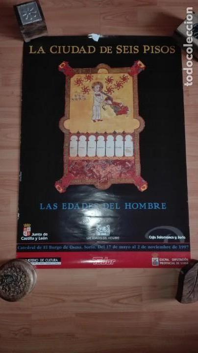 CARTEL PUBLICITARIO LAS EDADES DEL HOMBRE DEL BURGO DE OSMA 1997 68X48 CM EDITA PABLOPUENTE&RQR-DOC (Coleccionismo - Carteles Gran Formato - Carteles Turismo)
