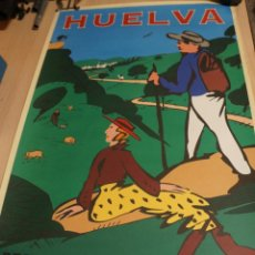 Carteles de Turismo: MAGNIFICO CARTEL HUELVA DESTINO SIERRA DE ARACENA OSCAR MARINÉ BOYER. PATRONATO DE TURISMO 1995. Lote 142820346