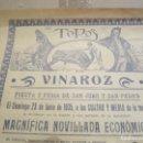 Carteles de Turismo: CARTEL TOROS , FIESTA Y FERIA DE SAN JUAN Y SAN PEDRO, 23 JUNIO 1935 , REPUBLICA . Lote 143600370