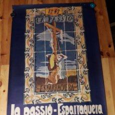 Carteles de Turismo: CARTEL LA PASSIÓ ESPARRAGUERA ESPARREGUERA 1970 VIOR BAIX LLOBREGAT. Lote 144801480