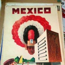 Carteles de Turismo: ORIGINAL VINTAGE AMERICAN AIRLINES MEXICO POSTER. Lote 150086866