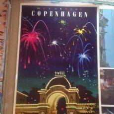 Carteles de Turismo: WONDERFUL COPENHAGEN - FIREWORKS AT TIVOLI,, DENMARK. Lote 150087098