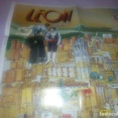 Carteles de Turismo: GRAN CARTEL LEÓN 89. Lote 152335426