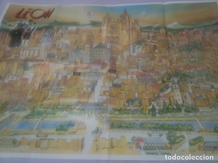 Carteles de Turismo: GRAN CARTEL LEÓN 89 - Foto 2 - 152335426