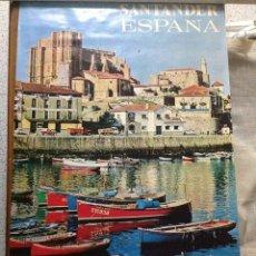 Carteles de Turismo: ANTIGUO CARTEL PUBLICITARIO SANTANDER. Lote 152368008