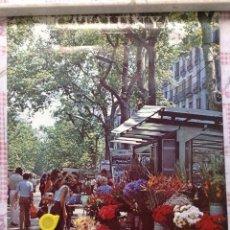 Carteles de Turismo: CARTEL DE LA RAMBLA DE BARCELONA. Lote 152370024