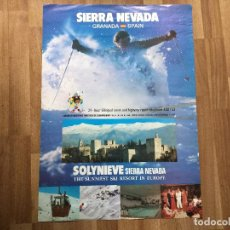 Affiches de Tourisme: ESQUI CARTEL SIERRA NEVADA GRANADA RETRO 1979 MONTAÑA SKI. Lote 31093115