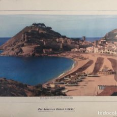 Carteles de Turismo: CARTEL PAN AMERICAN WORLD AIRWAYS. SPAIN. TOSSA DE MAR. COSTA BRAVA. 1956. MEDIDAS 40.5X54 CM. Lote 155738666