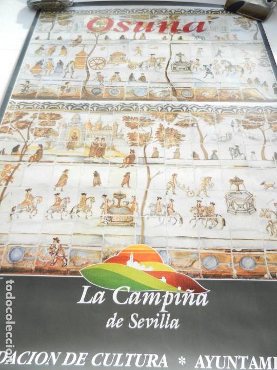 CARTEL DE OSUNA LA CAMPIÑA DE SEVILLA - AZULEJO DEL MONASTERIO DE LA ENCARNACIÓN - MEDIDAS 68X48 CM. (Coleccionismo - Carteles Gran Formato - Carteles Turismo)