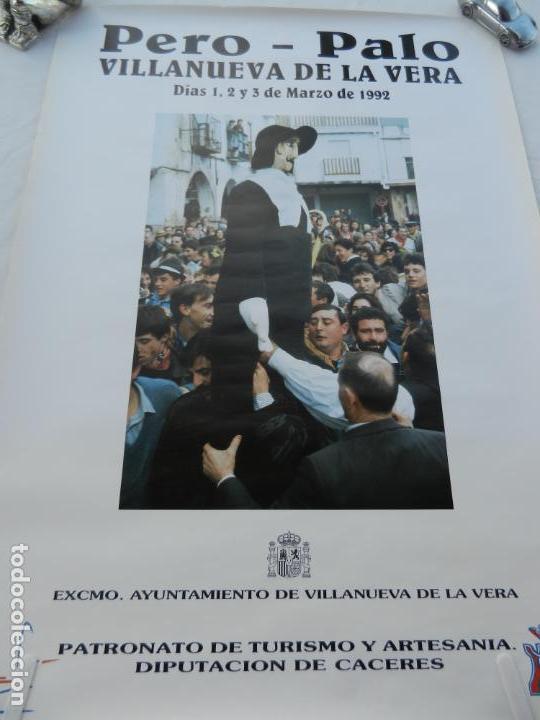 CARTEL PERO- PALO - VILLANUEVA DE LA VERA (CÁCERES) - 1992 - MEDIDAS 70X50 CM. (Coleccionismo - Carteles Gran Formato - Carteles Turismo)