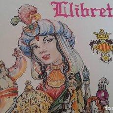Carteles de Turismo: LLIBRET FALLA CONVENTO JERUSALEN -MATEMATICO MARZAL 1990. Lote 162107158