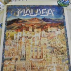 Carteles de Turismo: CARTEL DE MALAGA TURISMO - EDITADO POR UNICAJA - MEDIDAS 46X33 CM. . Lote 164957770