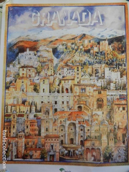 CARTEL DE GRANADA TURISMO - EDITADO POR UNICAJA - MEDIDAS 46X33 CM. (Coleccionismo - Carteles Gran Formato - Carteles Turismo)