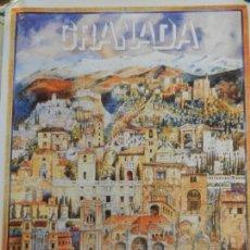 Carteles de Turismo: CARTEL DE GRANADA TURISMO - EDITADO POR UNICAJA - MEDIDAS 46X33 CM. . Lote 164960414