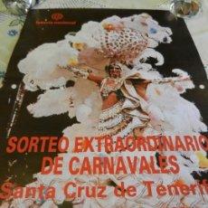 Carteles de Turismo: CARTEL LOTERIA NACIONAL SORTEO EXTRAORDINARIO DE CARNAVALES - SANTA CRUZ DE TENERIFE 1986. . Lote 164978838