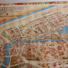 Carteles de Turismo: CARTEL SEVILLA 1992 EXPOSICIÓN UNIVERSAL - CLUB INTERNACIONAL DEL LIBRO - MED. 89X63 CM. Lote 165110286