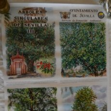 Carteles de Turismo: CARTEL ARBOLES SINGULARES DE SEVILLA III - AYUNTAMIENTO DE SEVILLA 1997. MEDIDAS 70X50 CM.. Lote 165232610