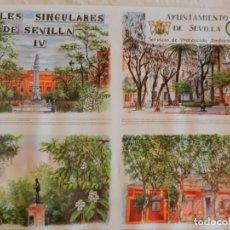 Carteles de Turismo: CARTEL ARBOLES SINGULARES DE SEVILLA IV - AYUNTAMIENTO DE SEVILLA 1997. MEDIDAS 70X50 CM.. Lote 165233106