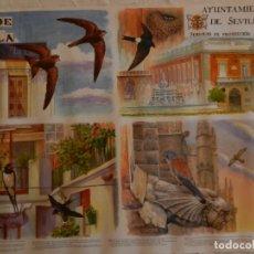 Carteles de Turismo: CARTEL AVES DE SEVILLA I - AYUNTAMIENTO DE SEVILLA 2004. MEDIDAS 70X50 CM.. Lote 165235514