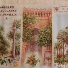 Carteles de Turismo: CARTEL ARBOLES SINGULARES DE SEVILLA I - AYUNTAMIENTO DE SEVILLA 1997. MEDIDAS 69X45 CM.. Lote 165236674