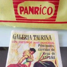 Carteles de Turismo: CALENDARIO TAURINO GALERÍA TAURINA AÑOS 60. Lote 165696822