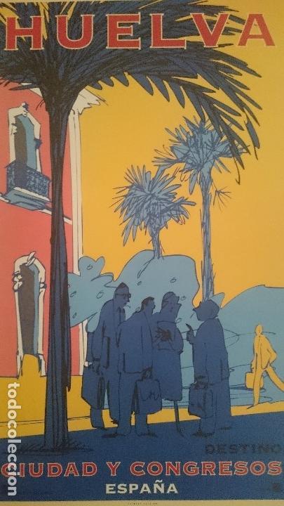 7 CARTELES TURISTICOS HUELVA OSCAR MARINE & CHRISTIAN BOYER 1995 (Coleccionismo - Carteles Gran Formato - Carteles Turismo)