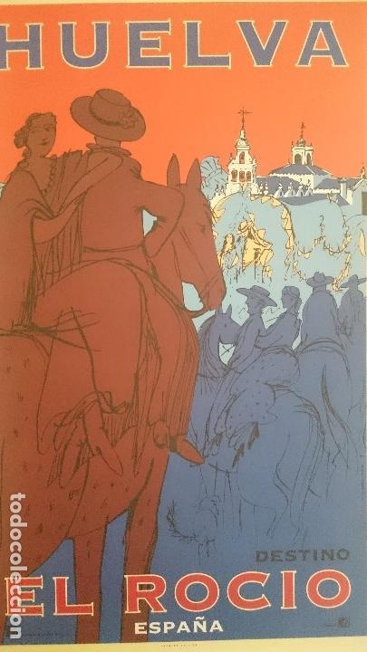 Carteles de Turismo: 7 CARTELES TURISTICOS HUELVA OSCAR MARINE & CHRISTIAN BOYER 1995 - Foto 3 - 195291677
