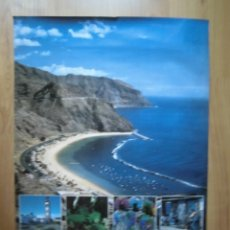Carteles de Turismo: CARTEL SANTA CRUZ DE TENERIFE CANARY ISLANDS 70 X 50. Lote 167621092