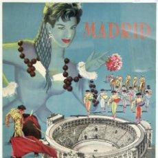 Carteles de Turismo: IBERIA.POSTER LINEAS.AEREA ESPAÑOLA VINTAGE.SPAIN.VIAJAR A ESPAÑA.MADRID.. Lote 168522220