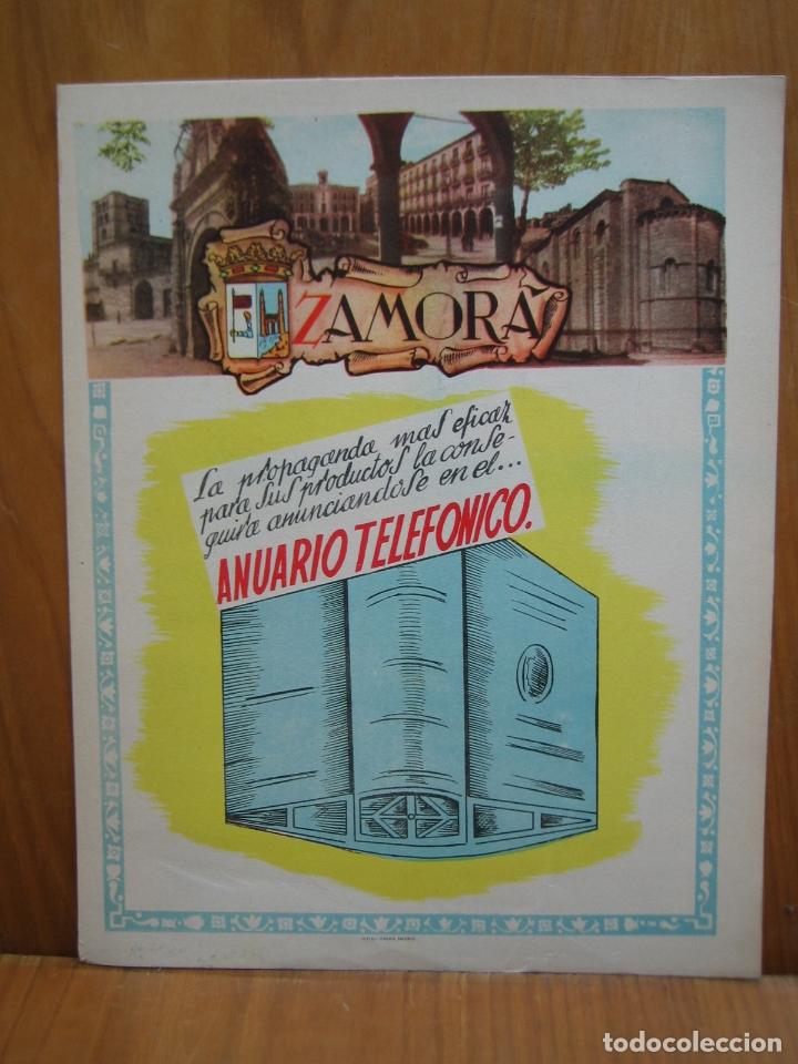 ANTIGUO CÁRTER PUBLICITARIO TAMAÑO A4 EN CARTULINA. ZAMORA (Coleccionismo - Carteles Gran Formato - Carteles Turismo)