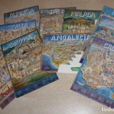Carteles de Turismo: COLECCIÓN 10 LÁMINAS CIUDADES ANDALUZAS, CON ESTUCHE. PARA COLECCIONISTAS.. Lote 169559752