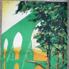 Carteles de Turismo: CARTEL TURISMO, TERUEL , ESTACION VERANIEGA , AÑOS 1940 -50 ,LITOGRAFIA , GRANDE , ORIGINAL . Lote 170972088