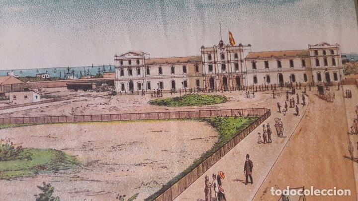 Carteles de Turismo: Cartel Exposicón Reginal Vilanova Geltru Barcelona 1882 pabellones Sociedad Agramunt - Foto 3 - 172588008