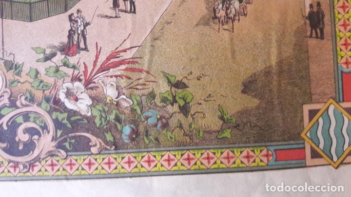 Carteles de Turismo: Cartel Exposicón Reginal Vilanova Geltru Barcelona 1882 pabellones Sociedad Agramunt - Foto 5 - 172588008
