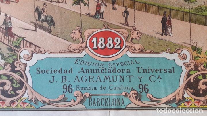 Carteles de Turismo: Cartel Exposicón Reginal Vilanova Geltru Barcelona 1882 pabellones Sociedad Agramunt - Foto 6 - 172588008