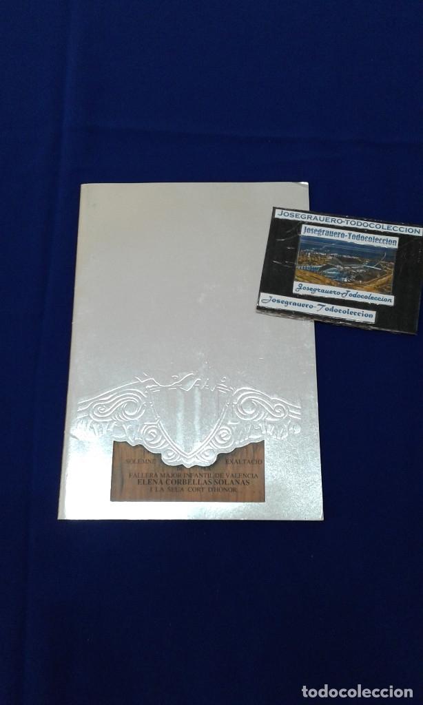 SOLEMNE EXALTACION FALLERA MAYOR INFANTIL DE VALENCIA 1991 (Coleccionismo - Carteles Gran Formato - Carteles Turismo)