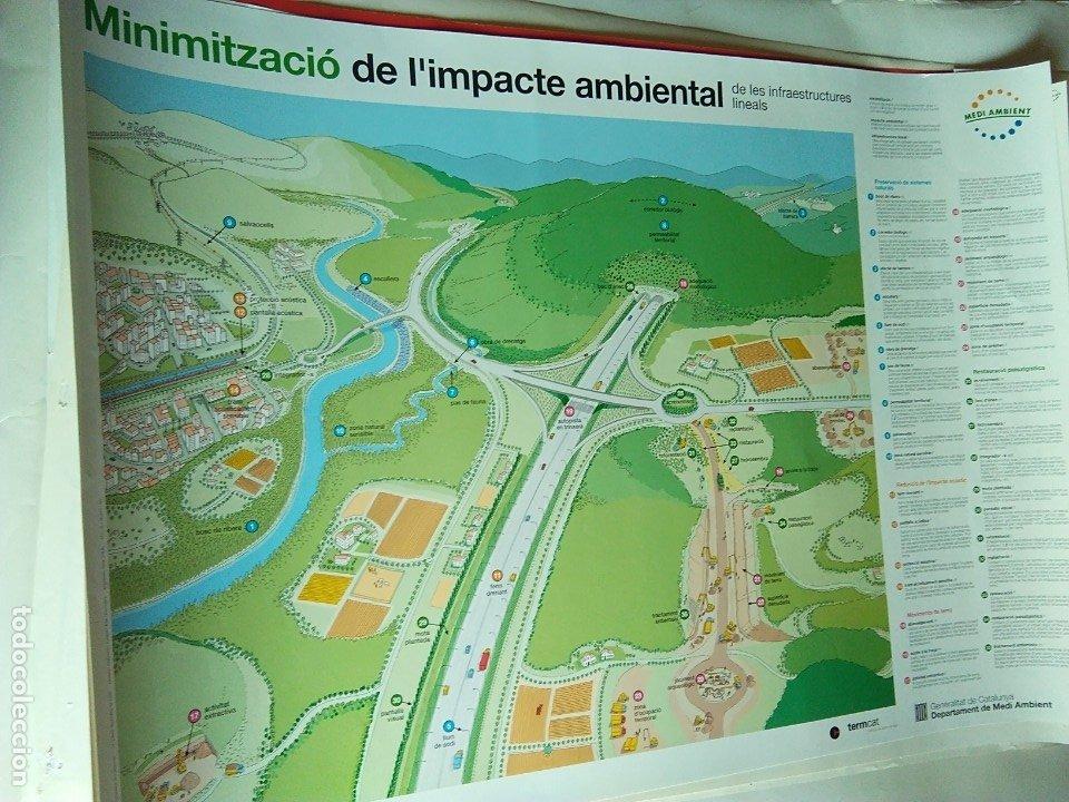 PÓSTER CAMPAÑA MINIMIZACIÓN DEL IMPACTO AMBIENTAL DE LAS INFRAESTRUCTURAS LINEALES. (Coleccionismo - Carteles Gran Formato - Carteles Turismo)