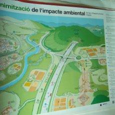 Carteles de Turismo: PÓSTER CAMPAÑA MINIMIZACIÓN DEL IMPACTO AMBIENTAL DE LAS INFRAESTRUCTURAS LINEALES.. Lote 174498134