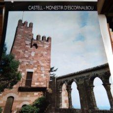 Carteles de Turismo: PÓSTER TURÍSTICO 'CASTELL-MONESTIR ESCORNALBOU'. Lote 174498184