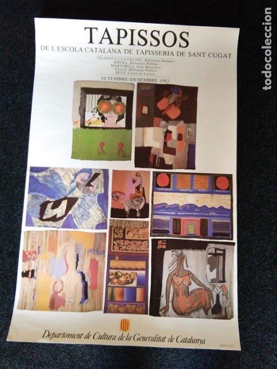 PÓSTER TAPICES DE LA ESCUELA CATALANA DE TAPICES SANT CUGAT (Coleccionismo - Carteles Gran Formato - Carteles Turismo)