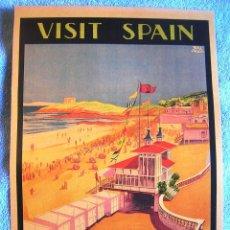 Carteles de Turismo: CARTEL POSTER SANTANDER- SARDINERO - CANTABRIA - PATRONATO NACIONAL TURISMO DE LA REPUBLICA ESPAÑOLA. Lote 221971040