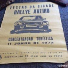 Carteles de Turismo: FESTAS DA CIDADE, RALLYE AVEIRO, CONCENTRAÇÃO TRÍSTICA DE 11 DE JUNHO DE 1972. Lote 178590458