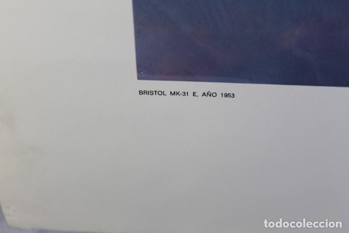 Carteles de Turismo: POSTER PUBLICITARIO IBERIA AVIÓN BRISTOL MK-31 E 1953 - Foto 2 - 178608327