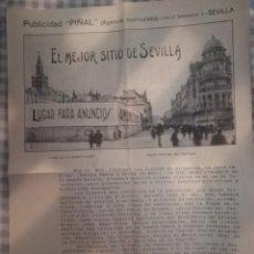 Carteles de Turismo: PUBLICIDAD DE SEVILLA. Lote 178662277