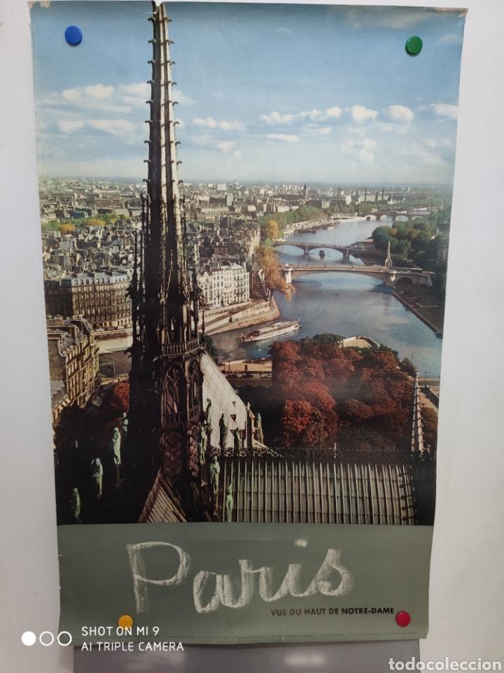 Carteles de Turismo: Antiguo póster de Notre-Dame. - Foto 3 - 179943041