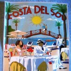 Carteles de Turismo: CARTEL POSTER TURISMO RETRO - COSTA DEL SOL, MARBELLA BEACH CLUB.. Lote 191043278