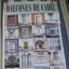 Carteles de Turismo: CARTEL BALCONES DE CÁDIZ - DELEGACIÓN MUNICIPAL TURISMO . Lote 181966773